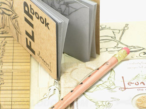 Flipbook vellum paper custom printing pencil set