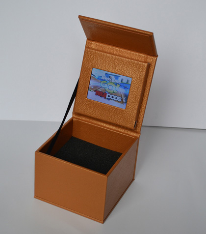 Leather video gift presentation box