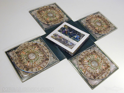 Cross shaped cd dvd pack