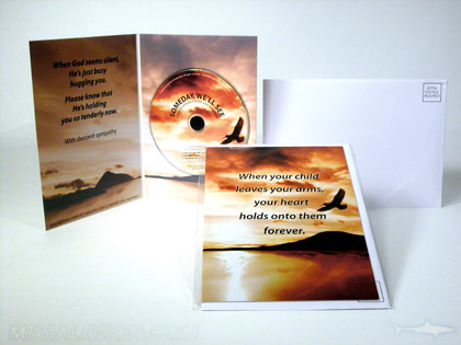 christian cd greeting card anvelope